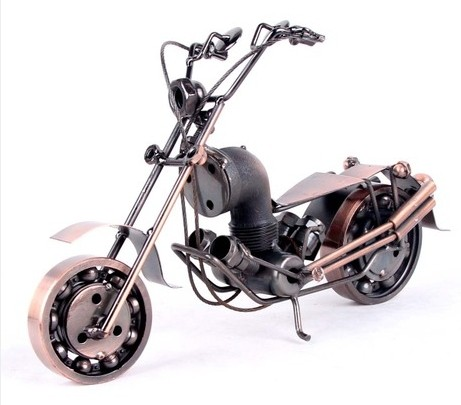 Bronze / Black Home Office Decoration Motorcycle Model