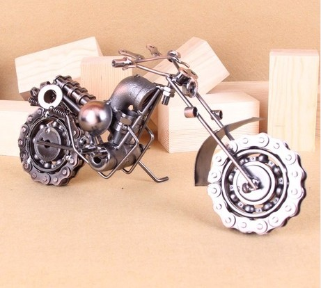 Home / Office Decoration Bronze / Black Motorcycle Model