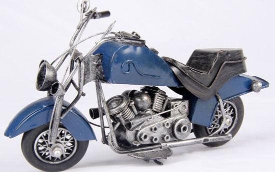 Tinplate Made Red / Blue / White Motorcycle Model