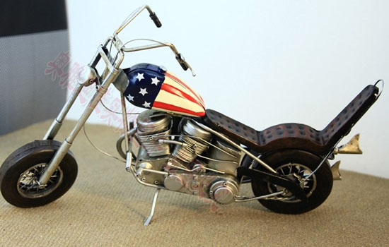 Large Scale National Flag Pattern Harley Davidson Motorcycle
