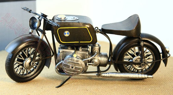 Large Scale Black Tinplate Made BMW Motorcycle Model