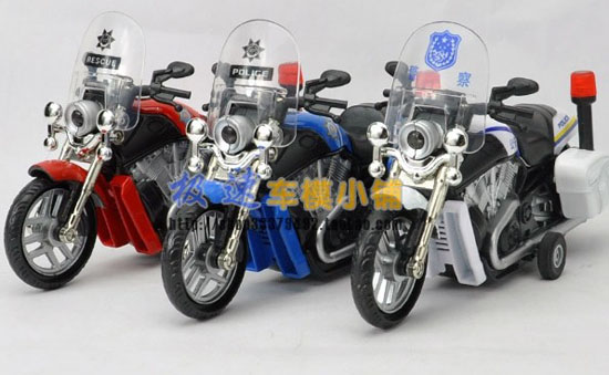 Red / Blue / White Pull-Back Function Harley Davidson Motorcycle