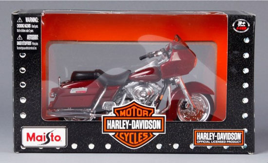 1:18 Scale Wine Red Harley Davidson 2000 FLTR Road Glide