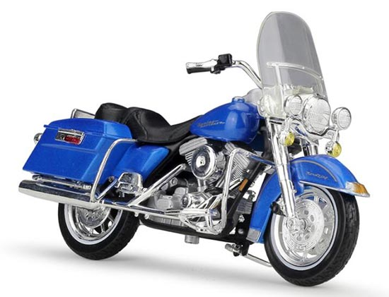 Blue 1:18 Scale Harley Davidson 1997 FLHR ROAD KING Model