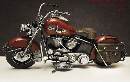 Wine Red Large Scale Harley Davidson 1949 Hydra Glide