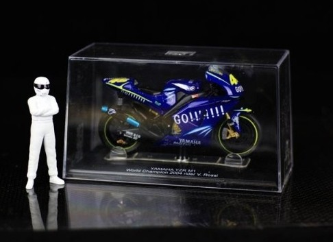 1:22 Scale Blue / Yellow Yamaha YZR-M1 Motorcycle