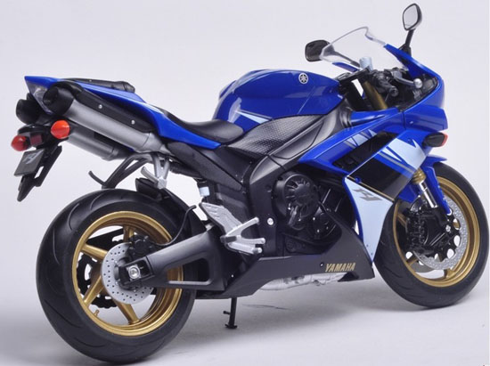 1:10 Scale Blue / Black / White Welly Yamaha YZF-R1