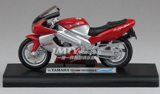 1:18 Scale Red Welly YAMAHA YZF1000R Motorcycle