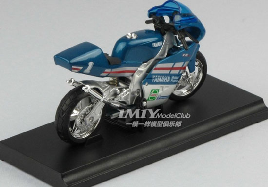 Blue 1:18 Scale Welly YAMAHA TZ250M Motorcycle