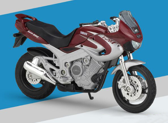 Wine Red 1:18 Scale Welly YAMAHA TDM850 Motorcycle