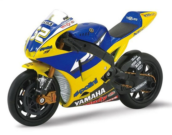 Yellow-Blue 1:18 Scale YAMAHA Motorcycle