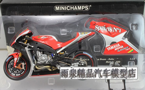 1:12 Scale Red / Yellow Minichamps YAMAHA YZR-M1 Model