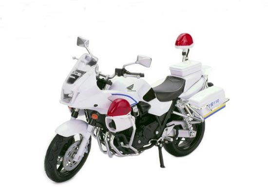 White 1:12 Scale Honda CB1300P Motorcycle Toy