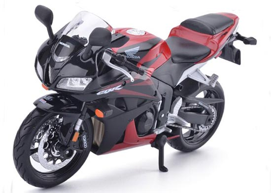 1:12 Scale Black / Red MaiSto Honda CBR 600RR F5 Motorcycle