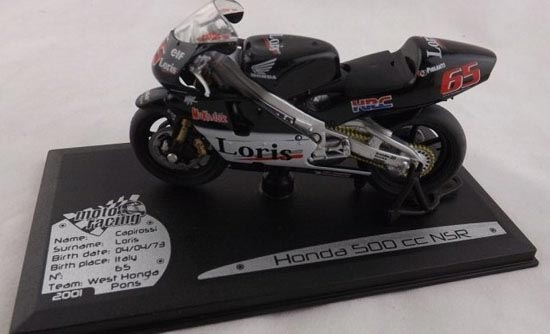 1:18 Scale Black Solido Honda 500 CC NSR Motorcycle