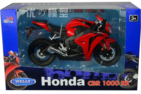 1:10 Scale Black / Red Welly HONDA CBR1000RR Motorcycle