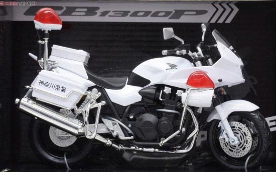 1:12 Scale White Police Theme HONDA CB1300P Model