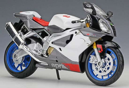 1:12 Scale Black / White / Red MaiSto Aprilia RSV 1000R
