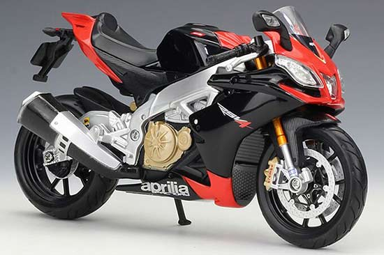 Black-Red 1:12 Scale MaiSto Aprilia RSV4 Model