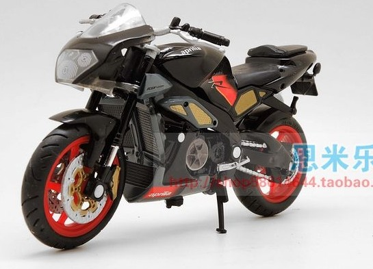 Black 1:18 Scale Aprilia Tuono 1000 Motorcycle