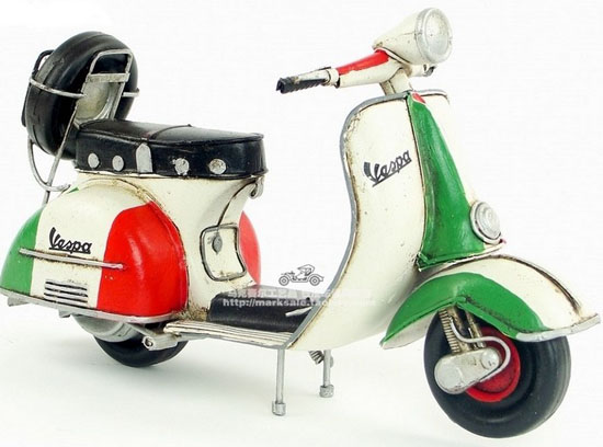 Colorful Medium Scale National Flag Pattern 1965 Vespa Model