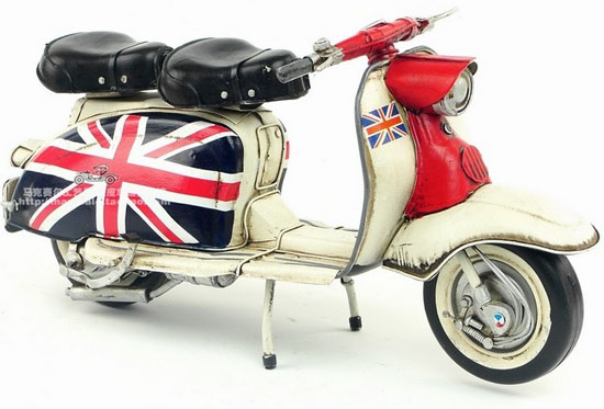 Large Scale Red-Black Tinplate 1968 Lambretta Model