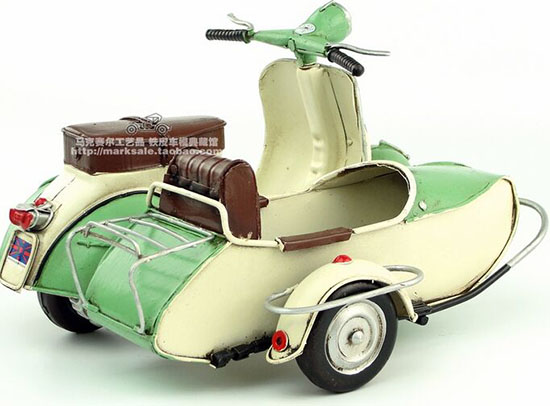 Red-White Tinplate Vintage Piaggio Vespa Model
