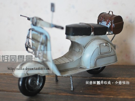 Vintage Style Blue Tinplate Vespa Model