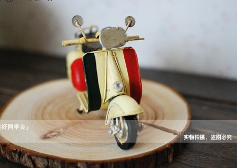 Yellow / Creamy White Small Size Vintage Vespa Model