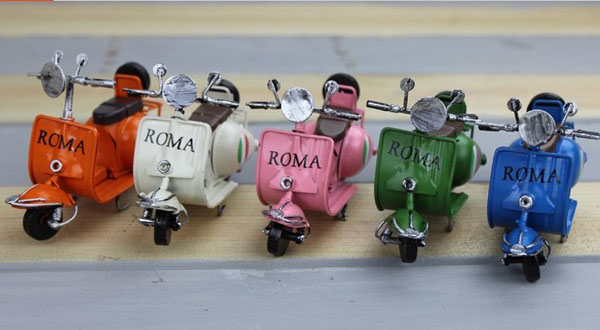Mini Scale Orange / White / Pink / Army Green / Blue Vespa Model
