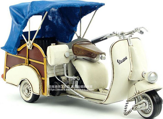 Vintage Large Scale Creamy White Vespa Model