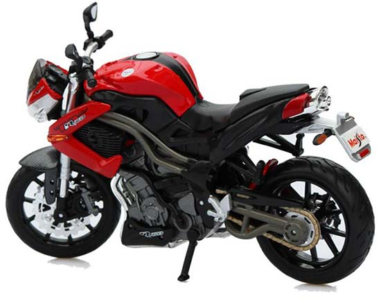 Black-Red 1:12 Scale Benelli Tornado Naked Tre R160 Model