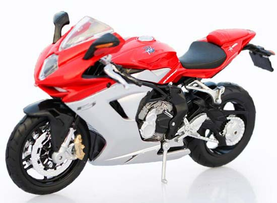 Red-Silver 1:12 Scale MaiSto MV Agusta F3 Model