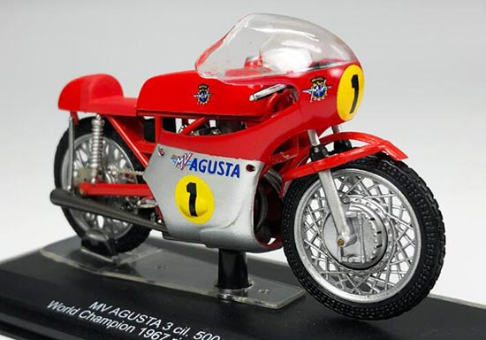 1:22 Scale Red-White ITALERI MV AGUSTA 3 cil.500cc Model