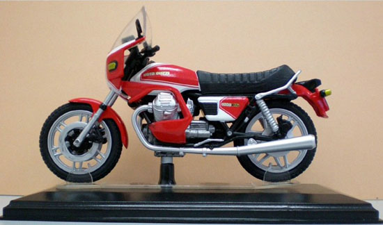 1:24 Scale Red Diecast MOTO GUZZI 1000 SP Model