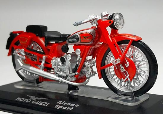 Red Diecast MOTO GUZZI Airone Sport Model