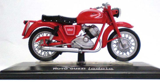 Red 1:22 Scale Diecast MOTO GUZZI Lodola Model