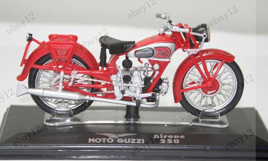 Bright Red Diecast MOTO GUZZI Airone 250 Model