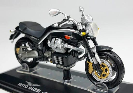 Black 1:22 Scale Diecast MOTO GUZZI GRISO Model