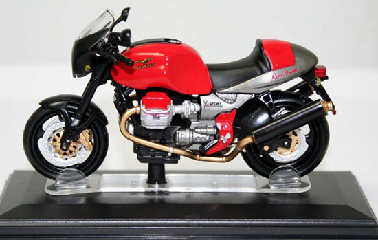 1:22 Scale Red Diecast MOTO GUZZI V11 Sport Model