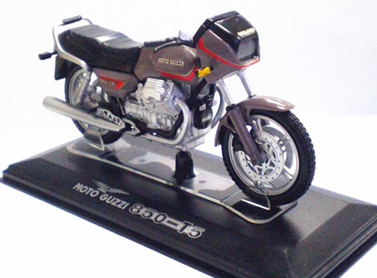 Black 1:22 Scale Diecast MOTO GUZZI 850 T5 Model