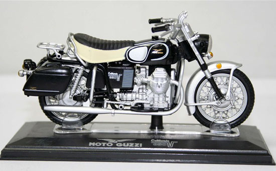 Black 1:22 Scale Diecast MOTO GUZZI Model