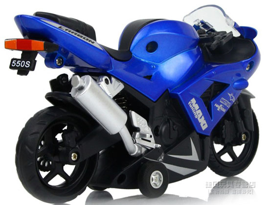 Kids Red / Orange / Blue Pull-Back Function Motorcycle Toy