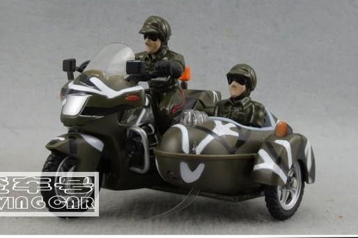 Army Green Kids Pull-Back Function Military Motorcycles Toy