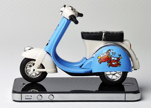 Kids Yellow / Red / Blue / Green Vespa Motorcycle Toy