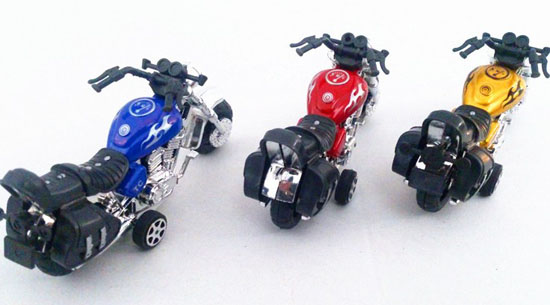 Kids Golden / Red / Blue Pull-Back Function Motorcycle Toy