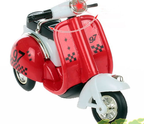 Red / Blue / Yellow / Green Kids Vespa Motorcycle Toy