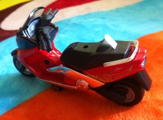 Kids Red / Black / Golden Pull-Back Function Motorcycle Toy