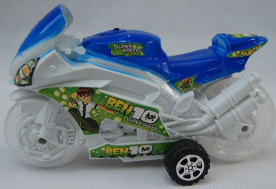 Kids Green / Blue / Red Plastics Motorcycle Toy