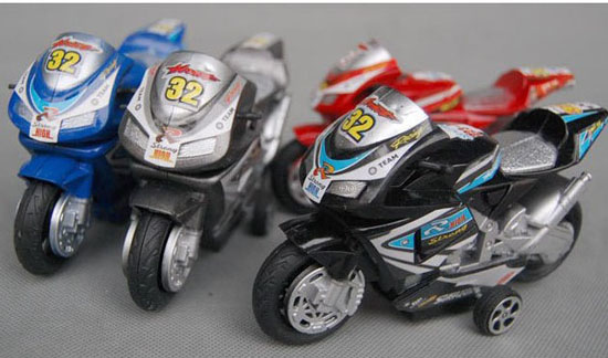 Kids Black / Silver / Blue / Red Plastics Motorcycle Toy